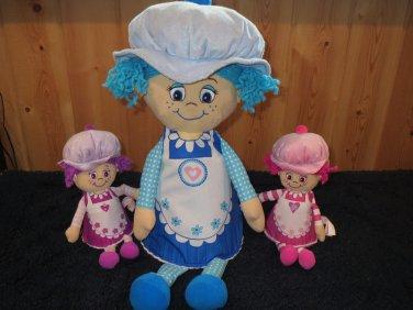 Three Little Miss Muffin Dolls Plush Toys