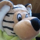 Royal Plush Tiger in lime green outfit with a bear and Happy