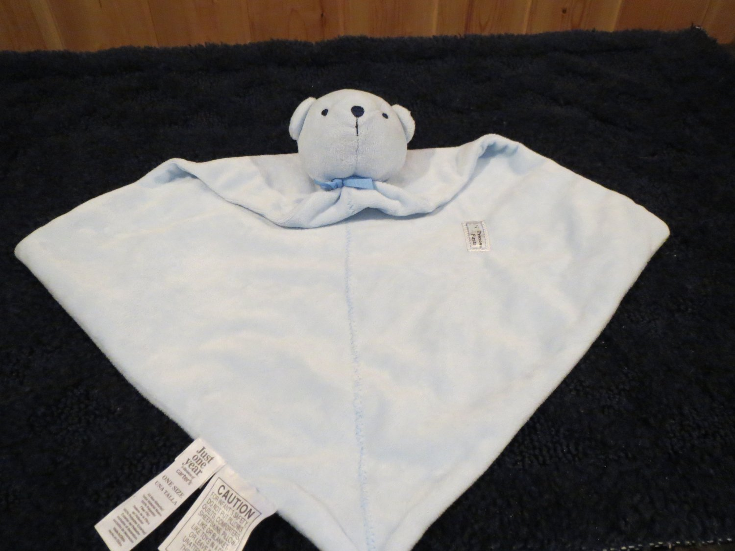Carters  Precious Firsts Blue Bear Security Blanket Lovey