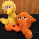 Fisher Price Sesame Street Musical Plush Big Bird and Snuffleupagus