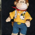 Build a Bear Plush Monkey in Woody's Toy Story Outfit Cowboy