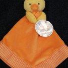 New Prestige Baby Orange Security Blanket Yellow Duck Chick