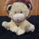 Costco Plush yellow lion with rust colored mane brown accents