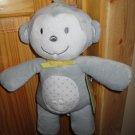 New Circo Target Monkey Grey White Musical Crib Toy Brahms Lullaby Plush Gray