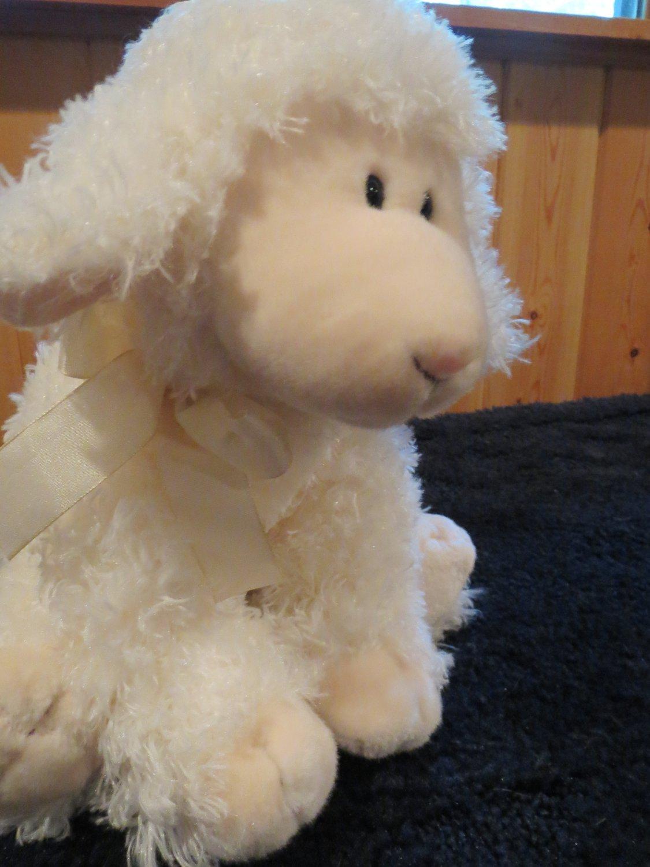 "Russ Berrie 12"" Lamb  Sheep named Baasley  #27852"