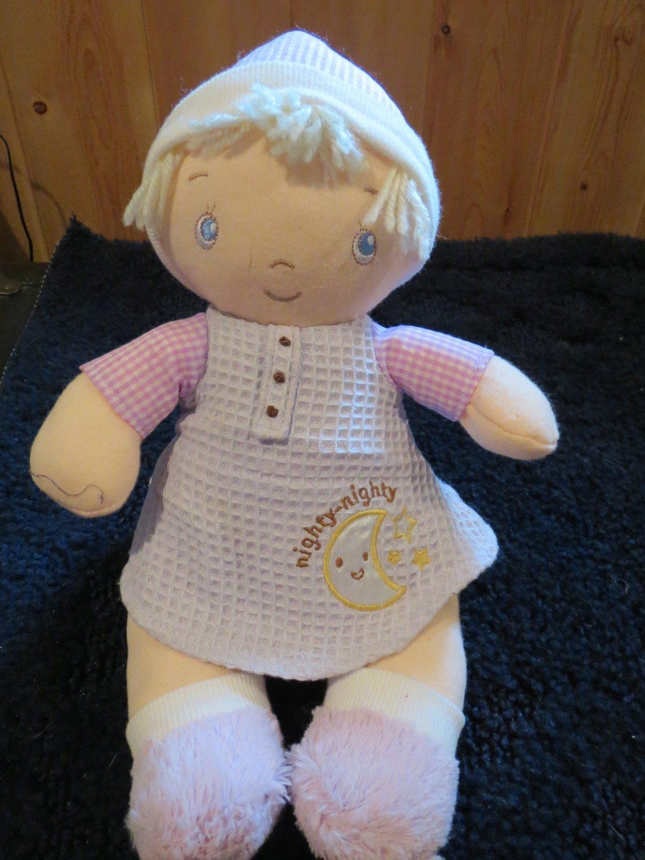 Gund Baby Plush Doll Named Rhilyn 319891 Nighty Nighty