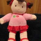 Just One You Brunette Plush Doll with flowers