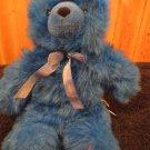 Limited Too/Toy O Rama Plush Royal Blue Fluffy Teddy Bear Plush Toy