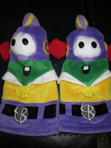 C R Gibbson Big Idea Veggie Tales Larry Boy Two plush hand puppet