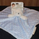 New Blankets & Beyond White Bear Blue Security Blanket white dots