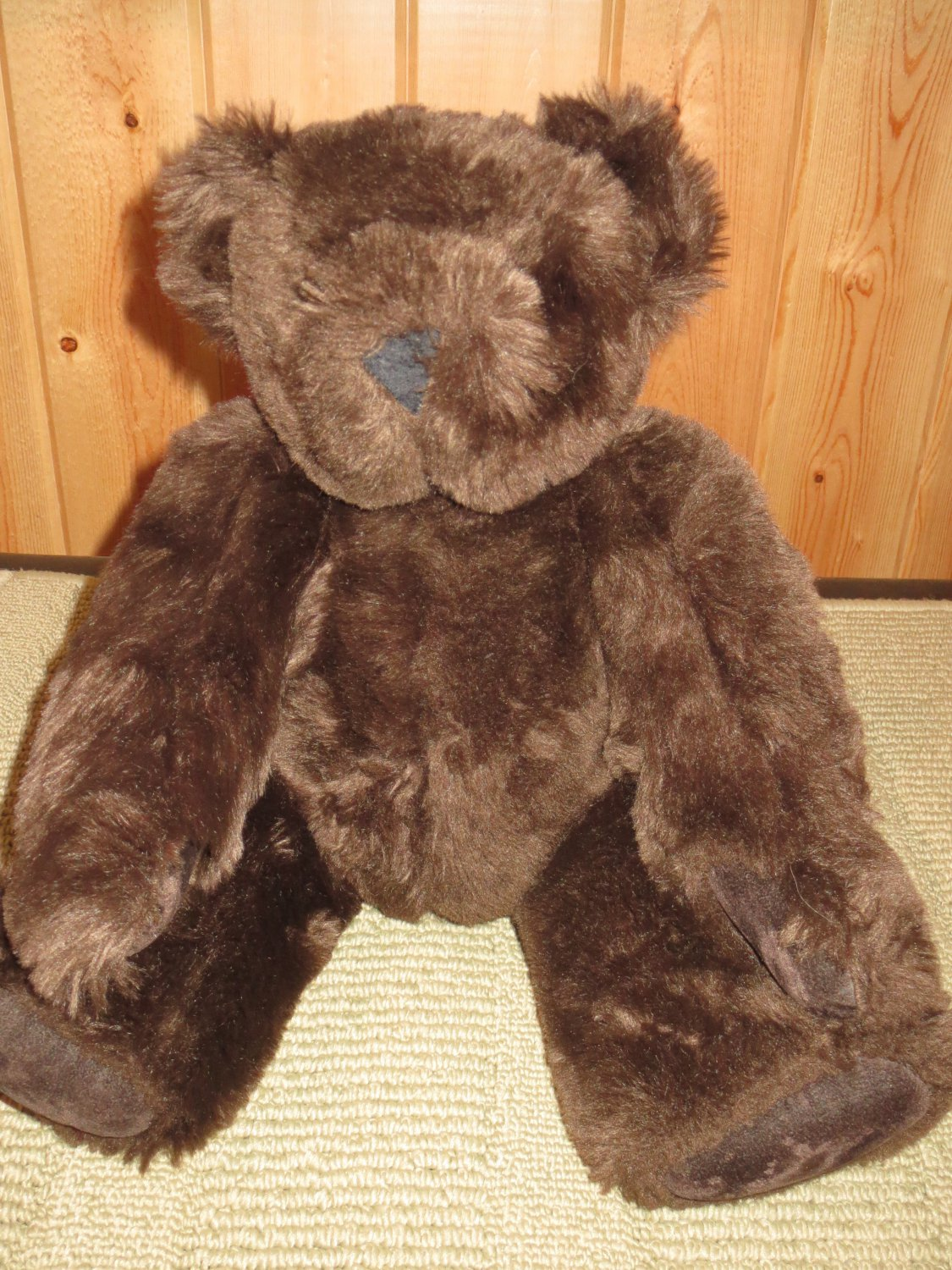 "Vermont Teddy Bear Company 15"" Brown fully jointed Teddy Bear"