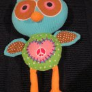 """Owl Love You Forever Plush Owl Peace Dots 13"""""""