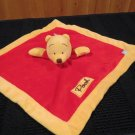 Disney Pooh Bear Red Security Blanket from Pooh & Friends Collection