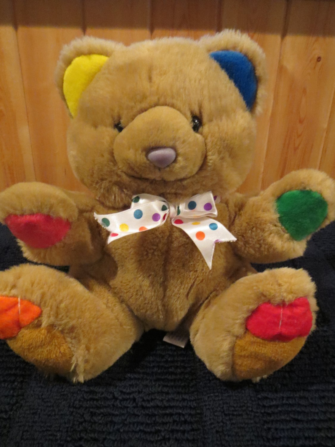 Vintage First & Main Cheerful Chum Menagerie Plush Tan Bear