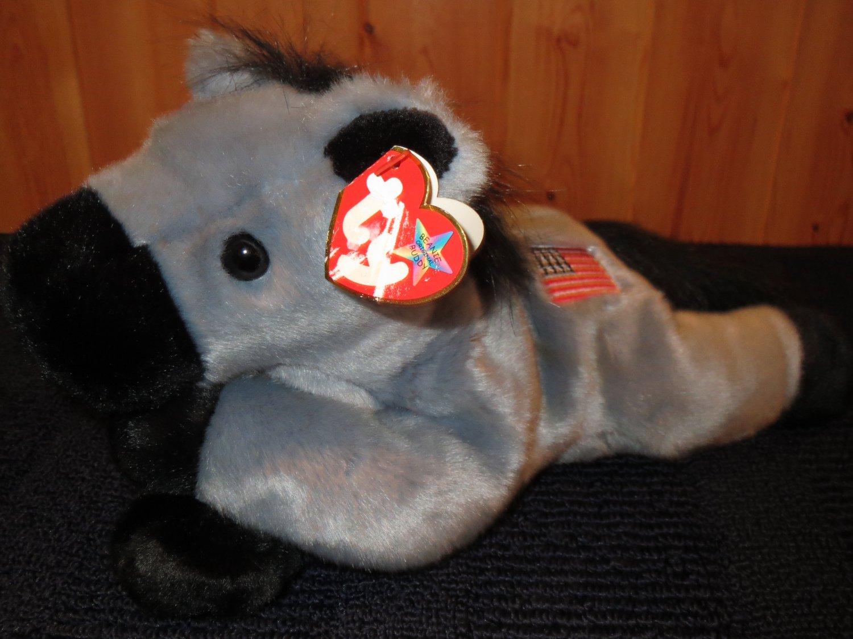 Ty Beanie Buddy grey Plush Donkey named Lefty