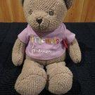 New Plush Tan Teddy Bear Hanny Girl Porductions Message Bear Friends Forever