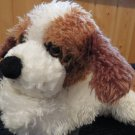 Aurora shaggy St Bernard White  Brown Floppy Plush Puppy Dog lovey