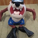 Nanco Looney Tunes Plush Tazmanian Devil Diver Scuba Fins Mask Swimmer