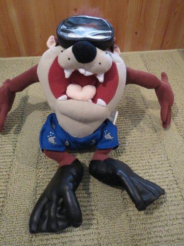 Nanco Looney Tunes Plush Tazmanian Devil Diver Scuba Fins Mask Swimmer