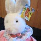 New Hugfun International Plush White Rabbit Pink Velour outfit