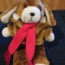 """Vintage 12"""" Interpur Avon Plush Puppy Dog with Fur Jacket"""