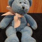 Progressive Plush blue Bear striped bow