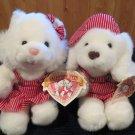1992 Commonwealth Plush Dog Cat Mickey Mandy Valentine Pets