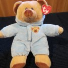 """New Ty Pluffies Baby Bear Blue Plush 10"""""""