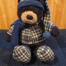Gund Black teddy Bear named Burlington Plush Toy 88431