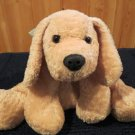 Mary Meyer Flip Flops Plush Gold Tan textured Dog with green ribbon