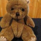 Vintage Carousel Plush brown Teddy bear