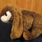 Animal Alley Brown Plush Bunny Rabbit White face tummy tail