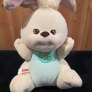 1998 Fisher Price Peaceful Planet Nature Sounds Plush Bunny Rabbit lights up