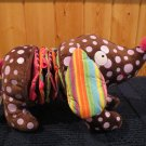 Alex jr Plush Dog Baby Toy with teethers and sensory textures