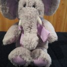 Animal Adventure Cuddle Zone Plush Gray Elephant Lavender Gingham