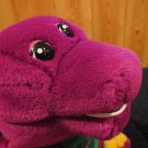 "Plush Singing 11"" Barney The Happy Dinosaur green Heart and I Love You"