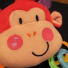 Fisher Price Red Plush Monkey Musical Activity Hanging Toy