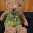 Plush Tan Teddy Bear Hanny Girl Porductions Message Bear You are Amazing