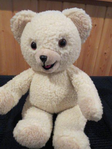 Vintage Russ Berrie Cream Colored Teddy Bear Snuggle Fabric Softener 3146