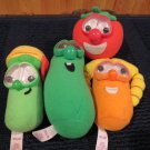 Fisher Price plush Veggie tales Laura Bob Larry Jr Asparagus