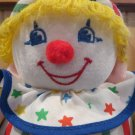 Vintage Bantam Plush Soft Clown Doll jingles chimes