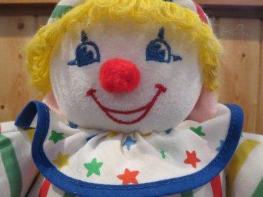 Vintage Bantam Plush Soft Clown Doll jingles chimes