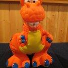 Fisher Price 1999 Plush Dinoroar T-Rex Tyrannosaurus Dinosaur PVC head