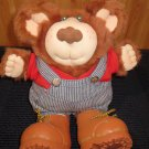 "Vintage Furskins 14"" Bubba Plush Bear Potato Farmer by Xavier Roberts"