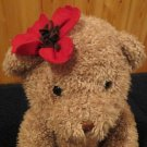 Bath & Body works Plush Tan Bear Red Flower named Blossom