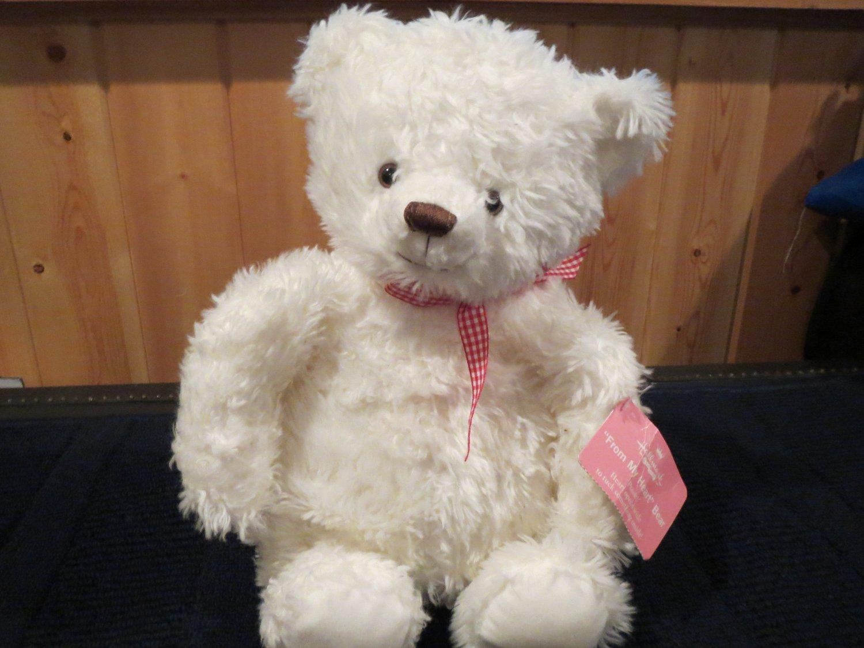 Hallmark Plush White Polar Teddy Bear From my Heart