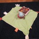 Kids Preferrerd Bacladi Fish / Whale Security blanket named Flo  Green striped