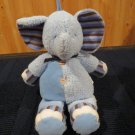 Carters  Blue Elephant Striped accents Musical Crib plush toy