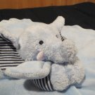 Carters  Blue Elephant Security Blanket striped ears arms