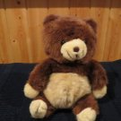 Vintage Cuddle Wit Brown Bear creamy tan tummy snout and feet